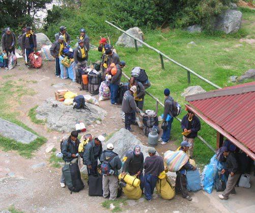 inca porters strike